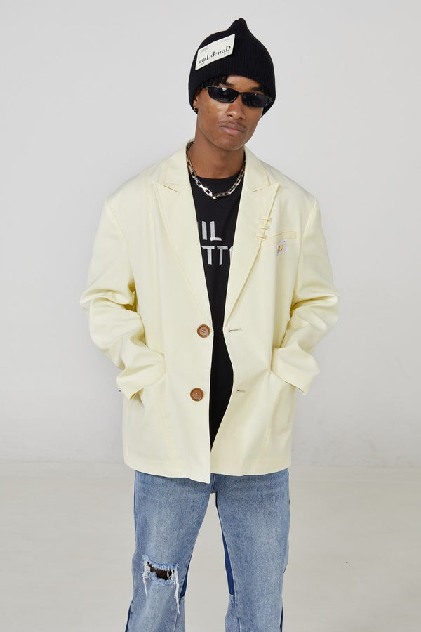 STEEPC Light Yellow Basic Suit Jacket