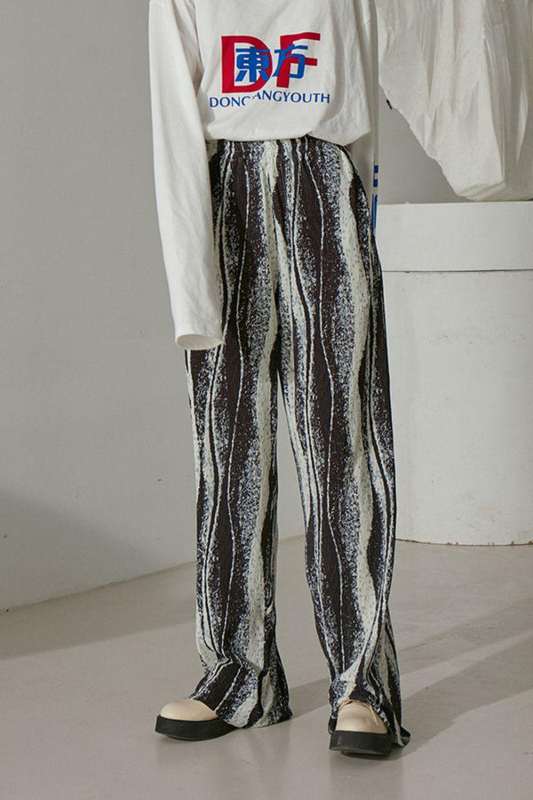 Mix7 Abstract Loose Trousers