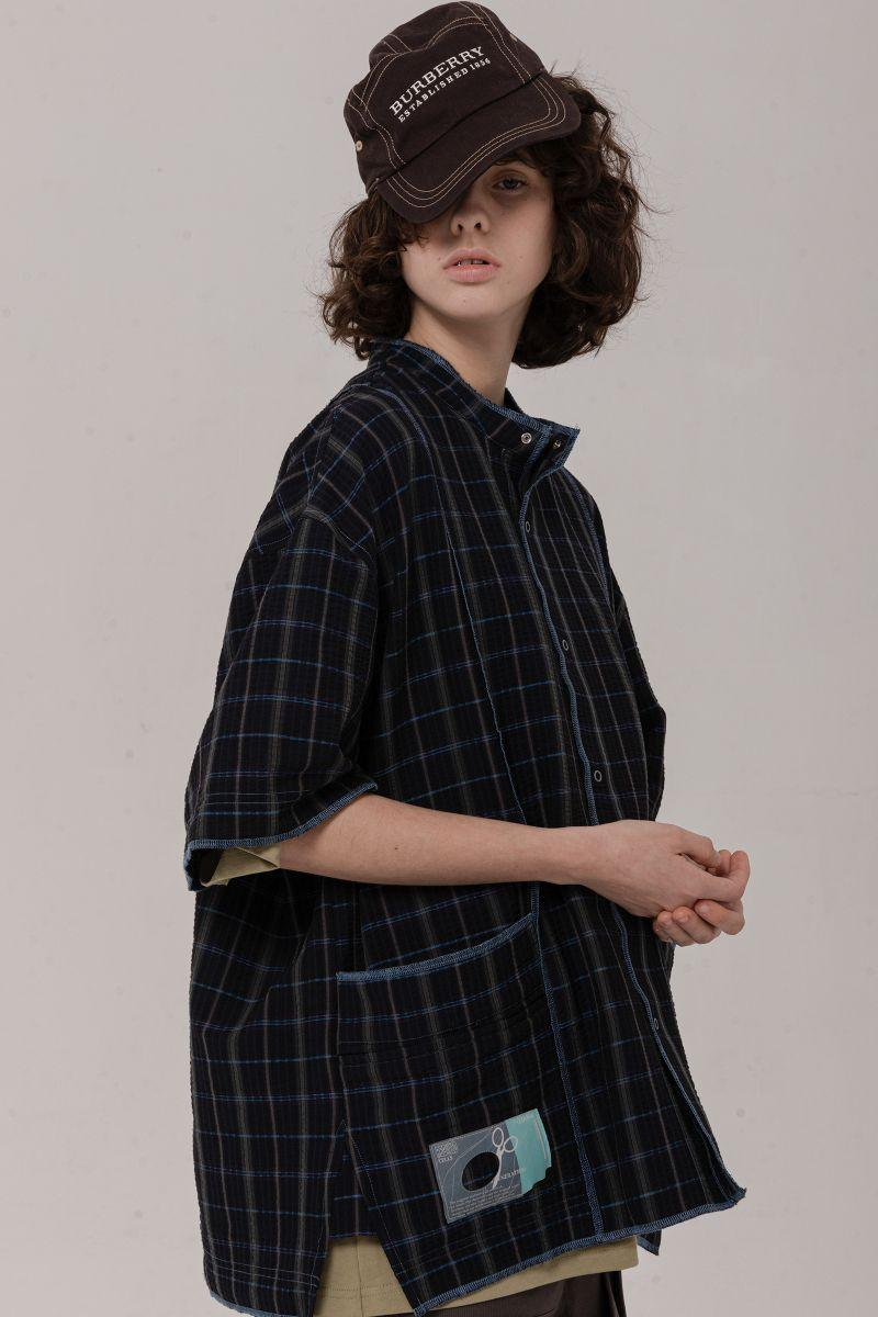 BLIND Checkered Stitched Shirt