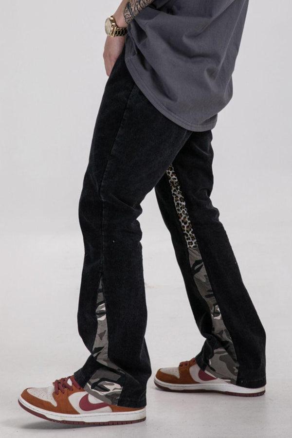 CZ Camo Corduroy Flared Trousers