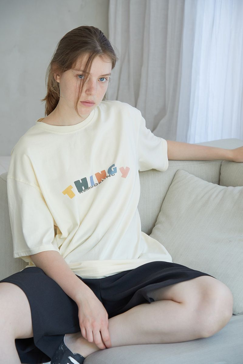 THINGY Multi Color Logo Tee