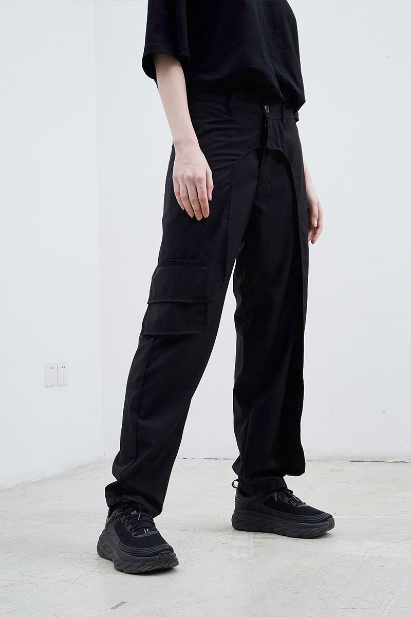 STEEPC Stitching Straight Trousers