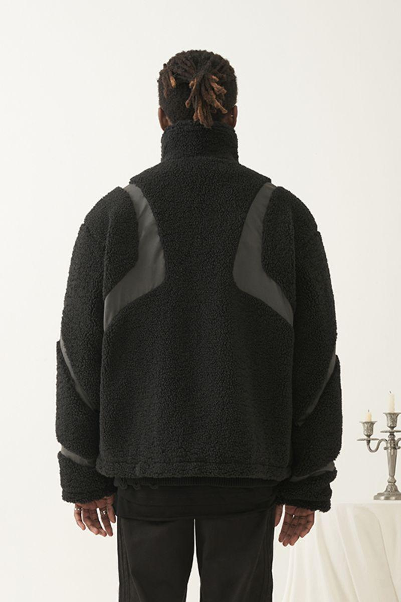 Empty Reference Stitched Sherpa Jacket