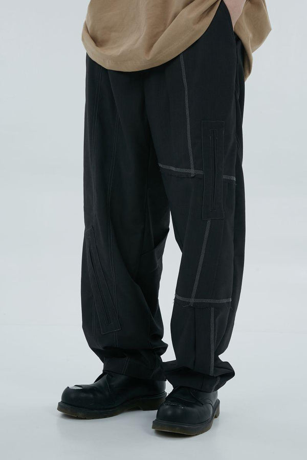 BLIND Segmented Patch Trousers