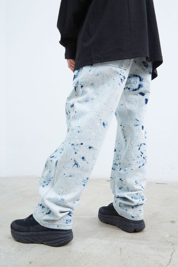 STEEPC Bleached Straight Denim