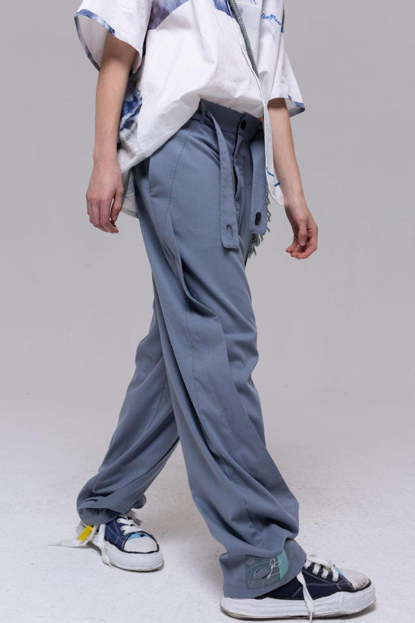 BLIND Retro Belt Straight Trousers