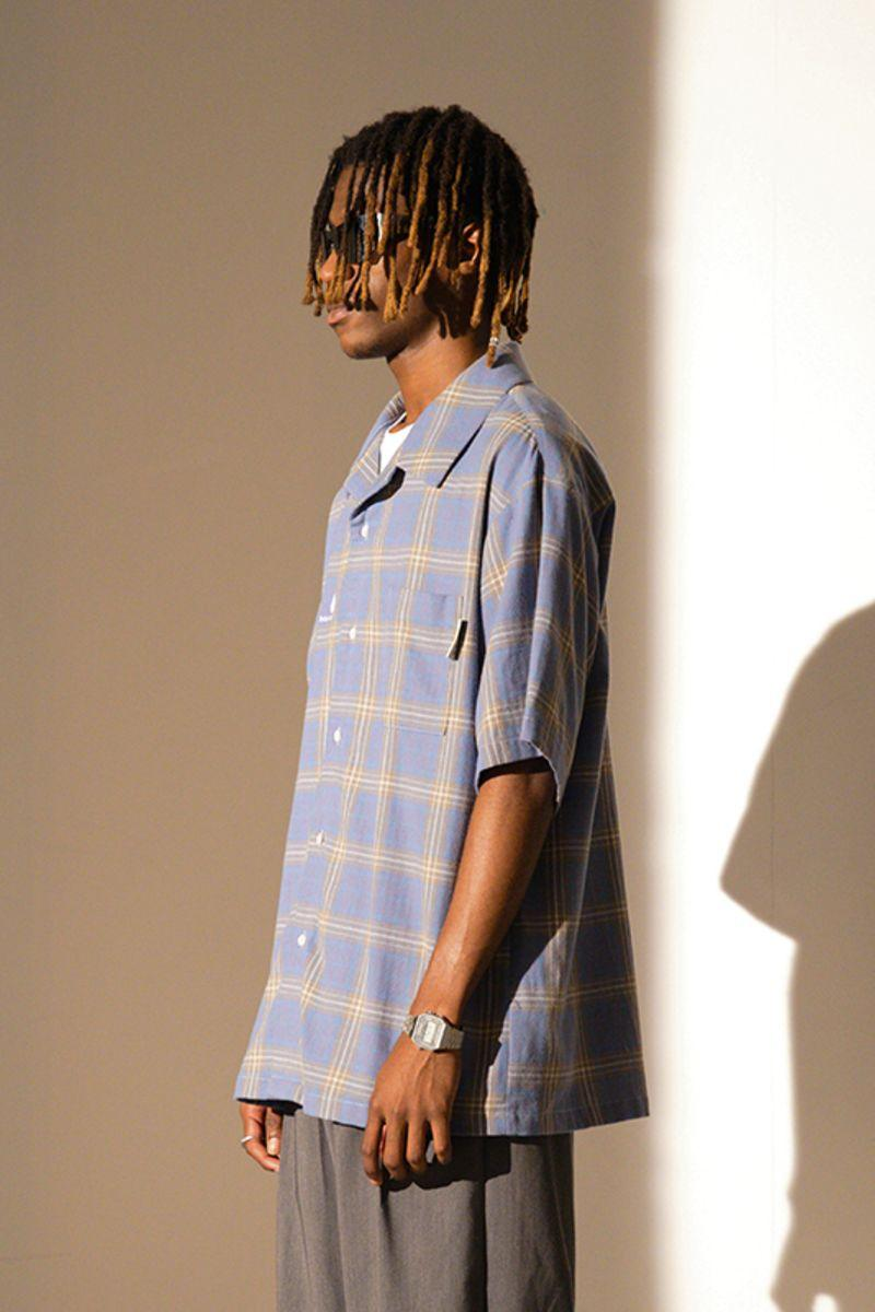 Empty Reference Blue Checkered Cuban Shirt