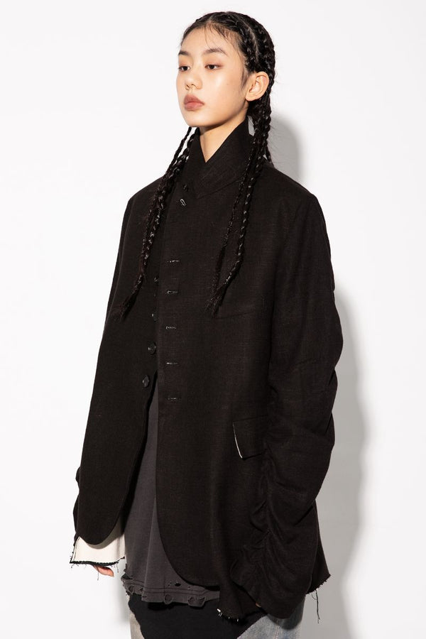Unknown World Rumpled Cut Blazer