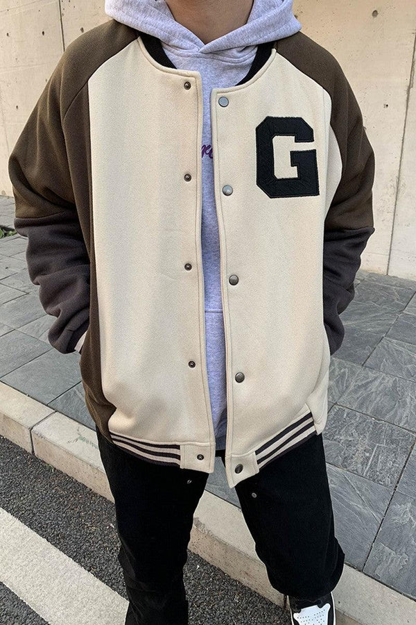 CZ Stitched Basic Varsity Jacket