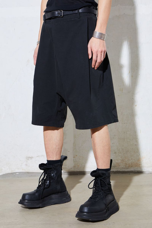 Unknown World Asymmetrical Pleated Shorts