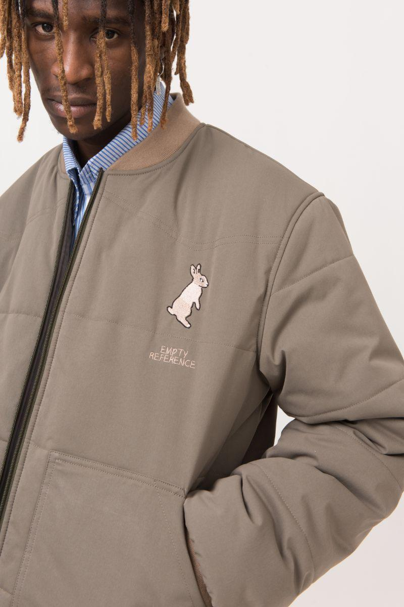 Empty Reference Embroidery Rabbit Logo Down Jacket
