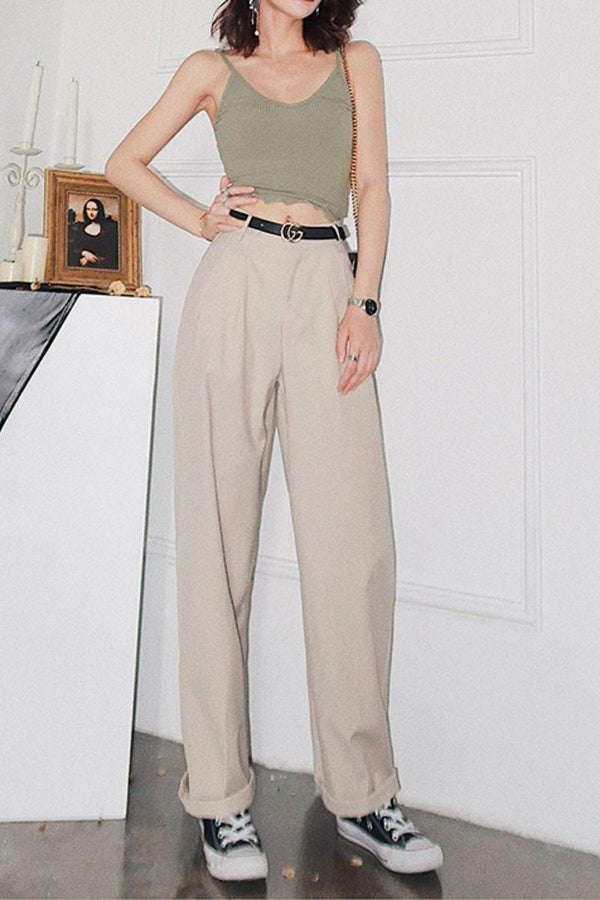 CZ Straight Casual Long Pants