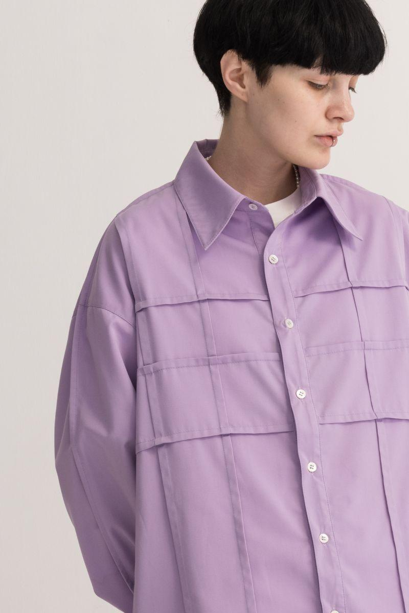 Empty Reference Folded Linear L/S Shirt