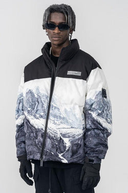 H/C Snow Mountain Logo Down Jacket