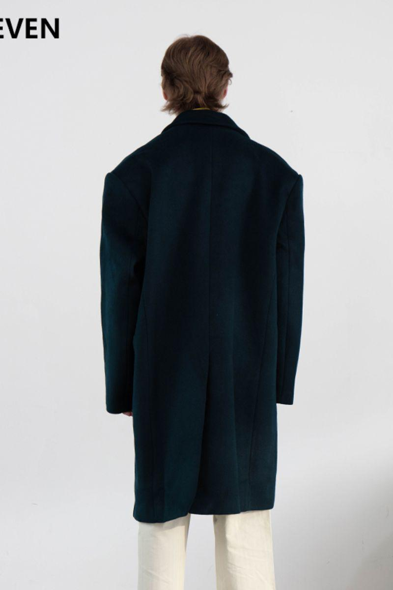 Mix7 Asymmetrical Woolen Coat