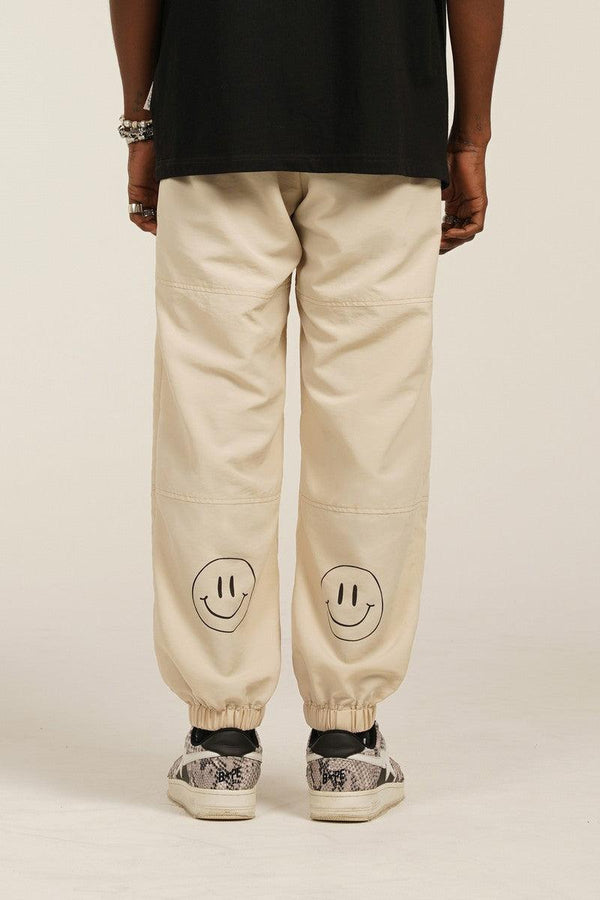 Empty Reference Smiley Logo Casual Pants