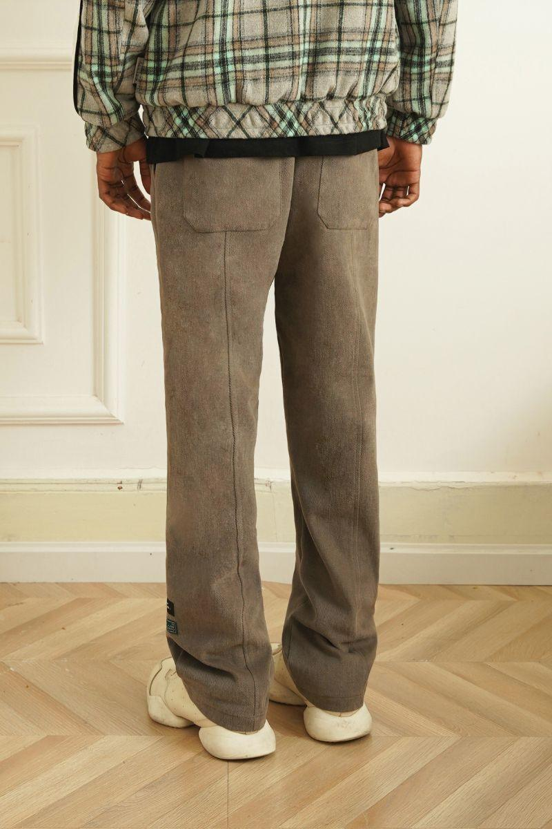Empty Reference Loose Straight Trousers
