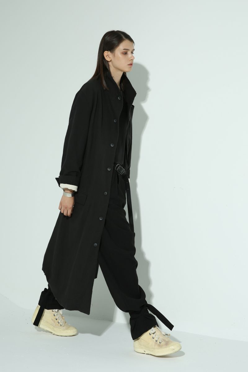 Unknown World Black Distressed Coat