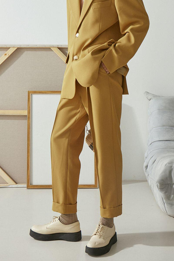 Mix7 Golden Straight Trousers