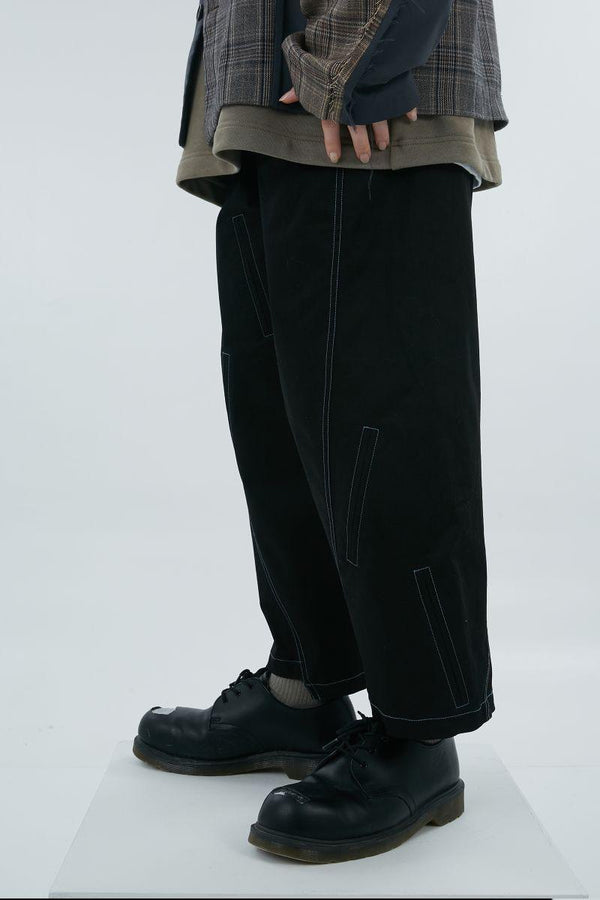 BLIND Asymmetrical Loose Trousers