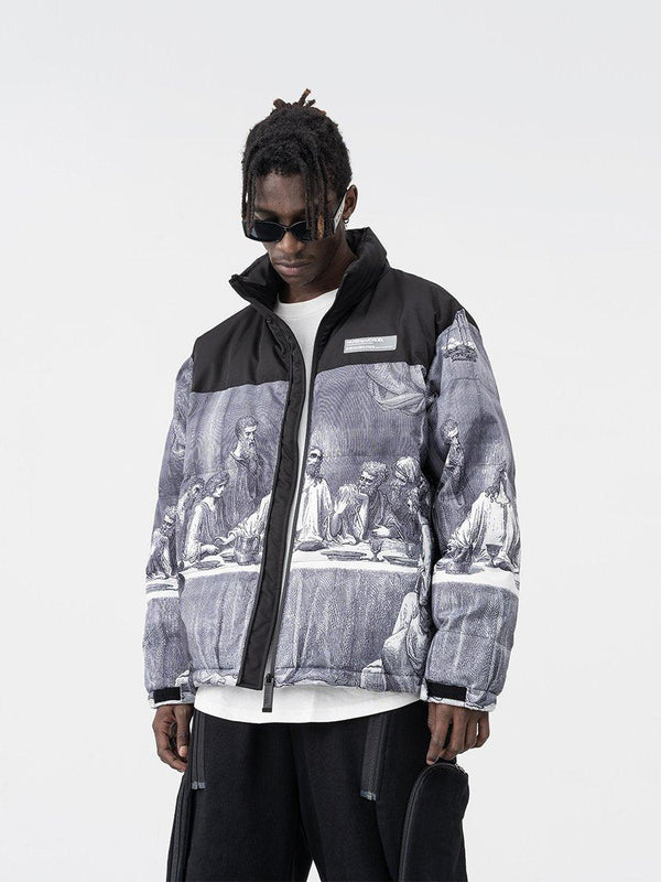H/C The Last Supper Logo Down Jacket