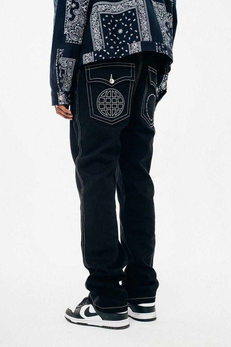 Antidote Embroidered Logo Loose Trousers