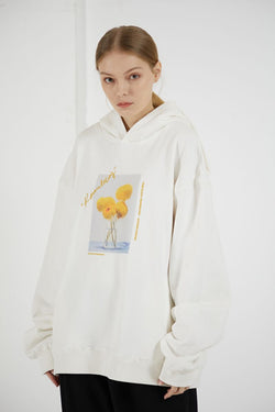 THINGY Sunflowers Oil Painting Hoodie