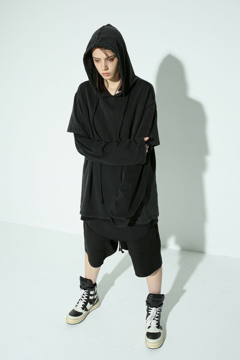 Unknown World Layered Washed Hoodie