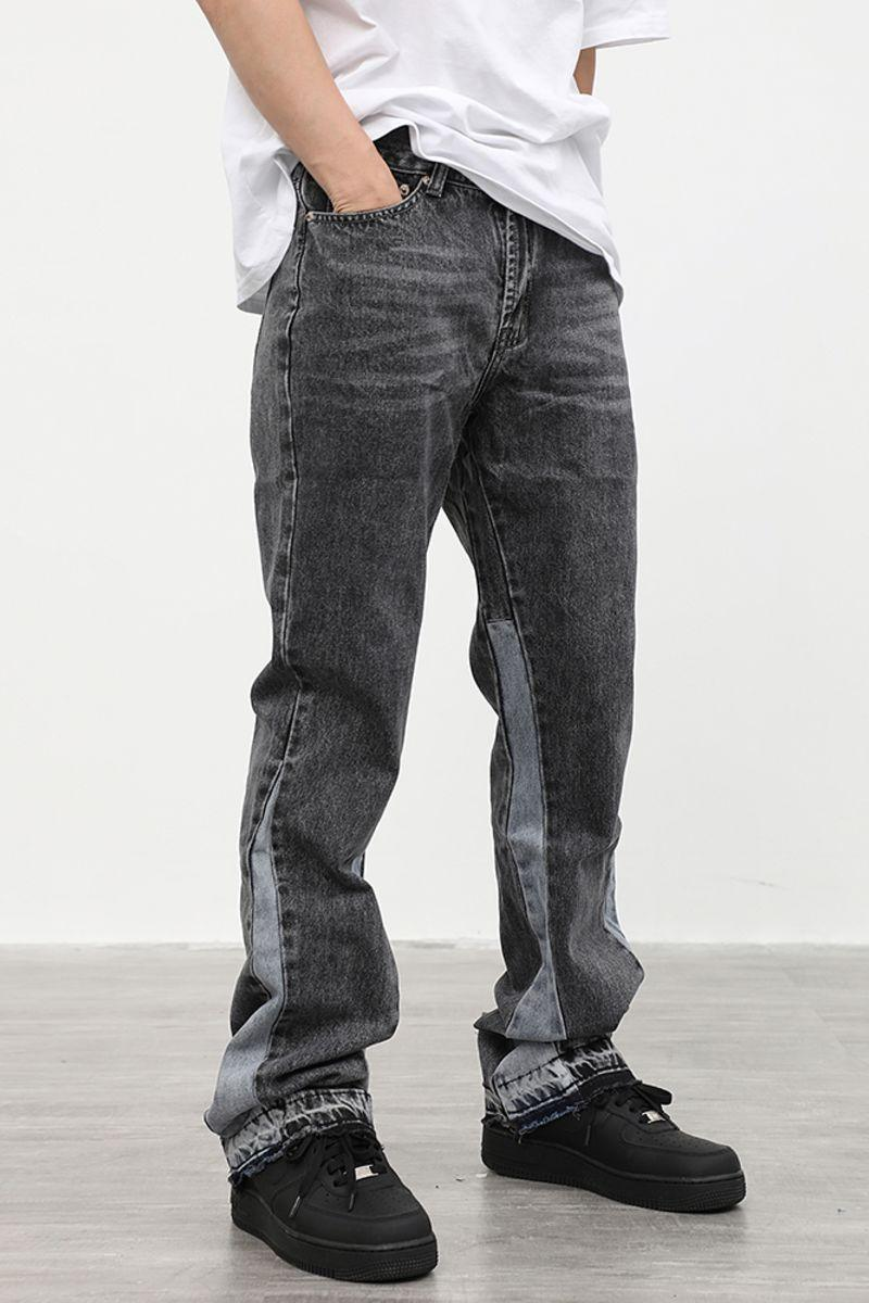 CZ Washed Stitched Flared Denim
