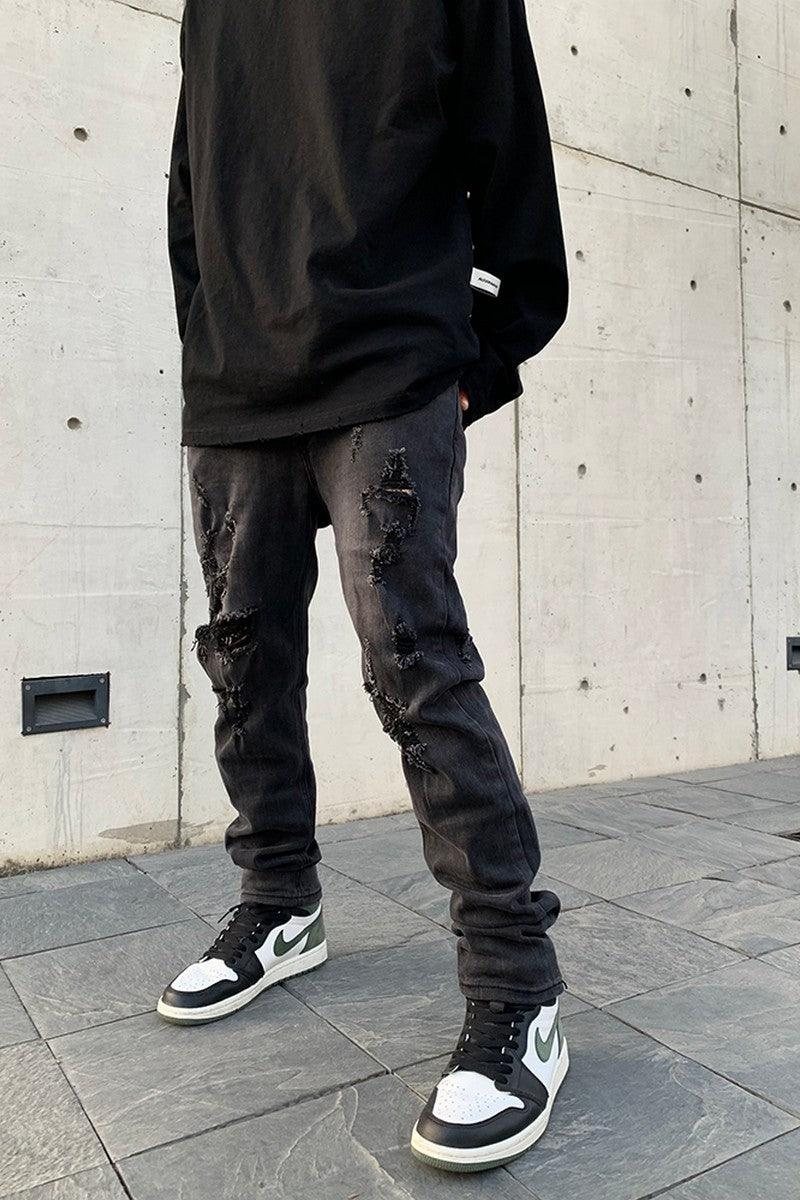 CZ Distressed Slim Fit Denim
