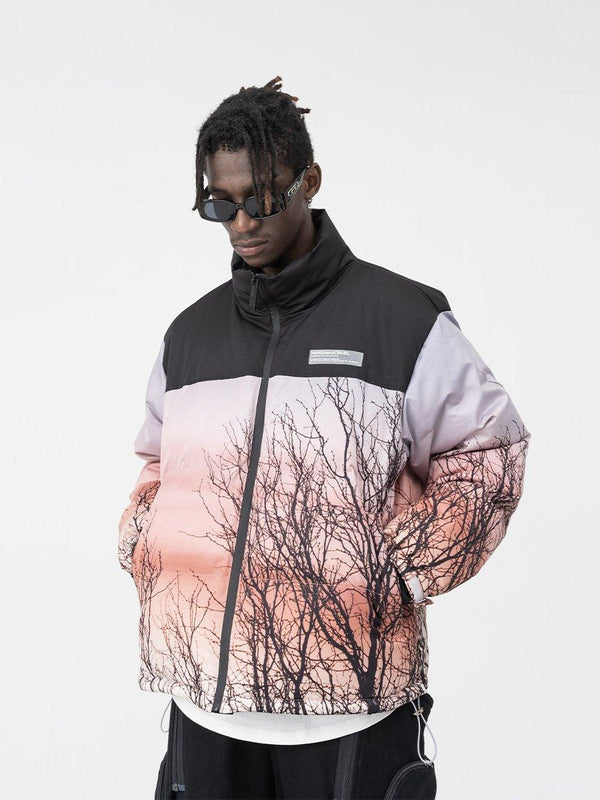 H/C Forest Print Down Jacket