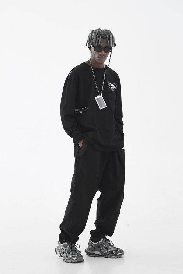 H/C Pleated Logo Trousers