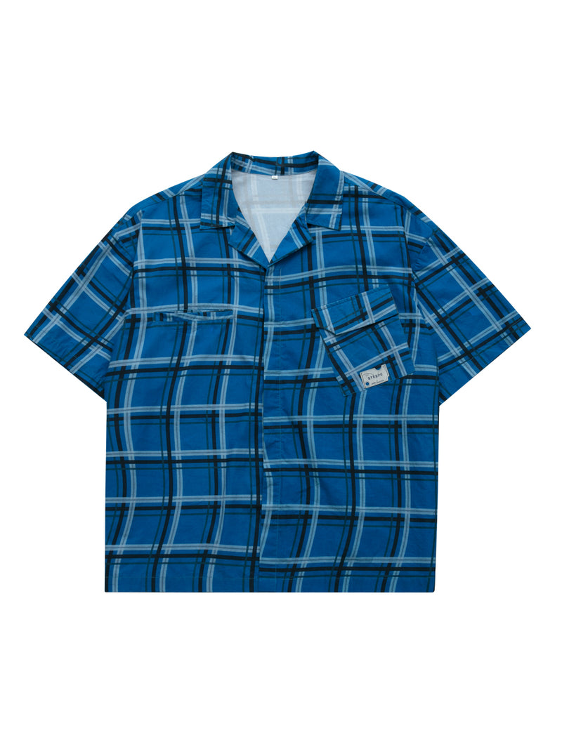STEEPC Curved Checkered Cuban S/S Shirt