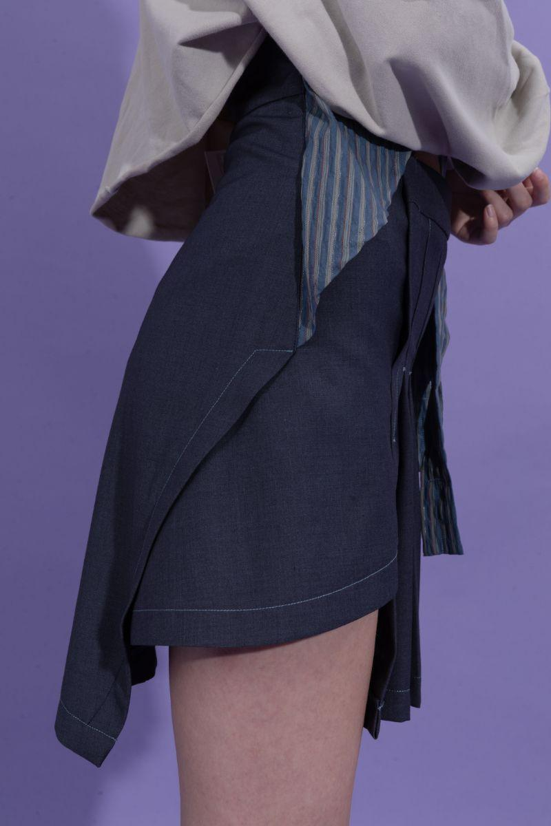 BLIND Retro Asymmetrical Skirt