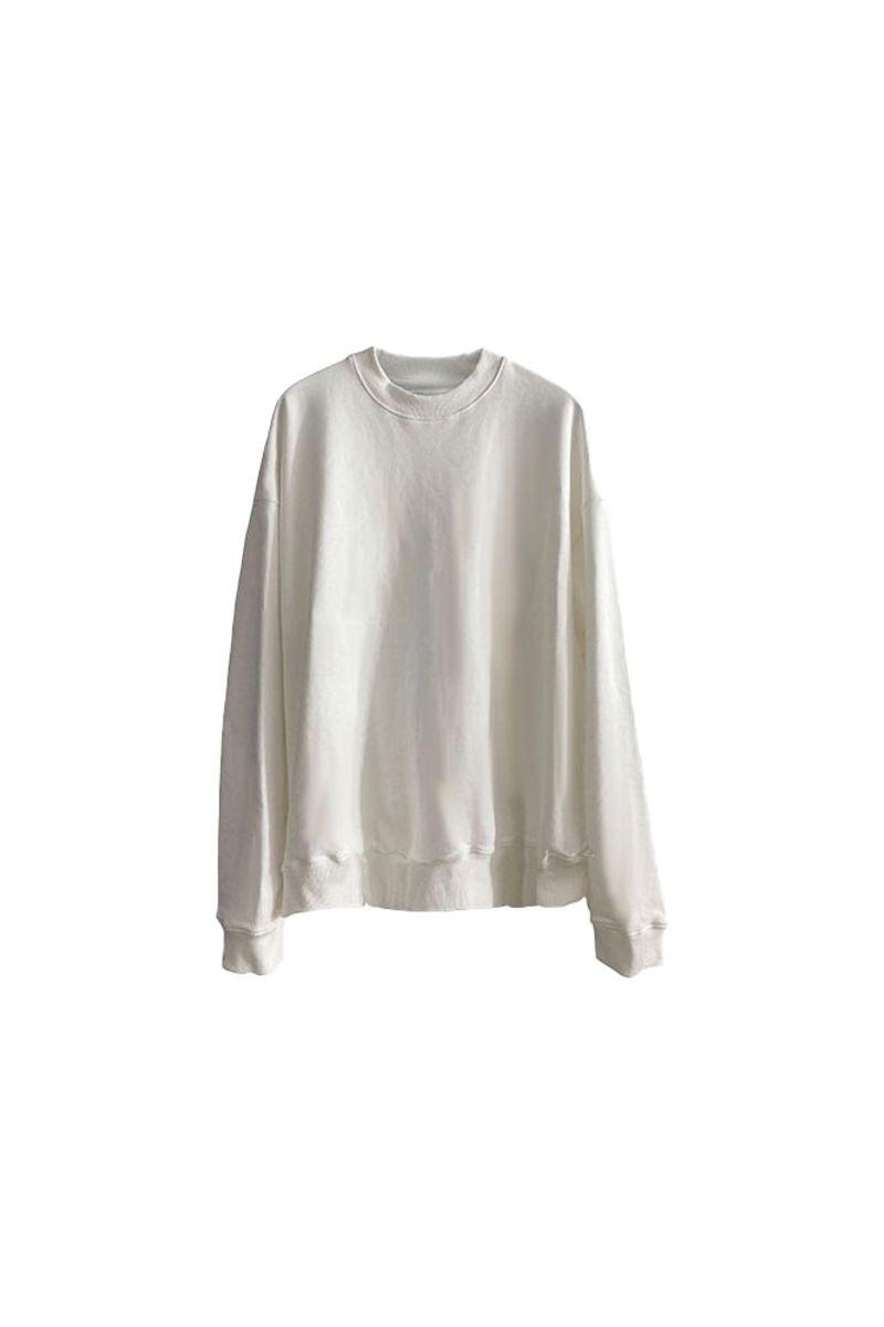 CZ White Loose Sweater