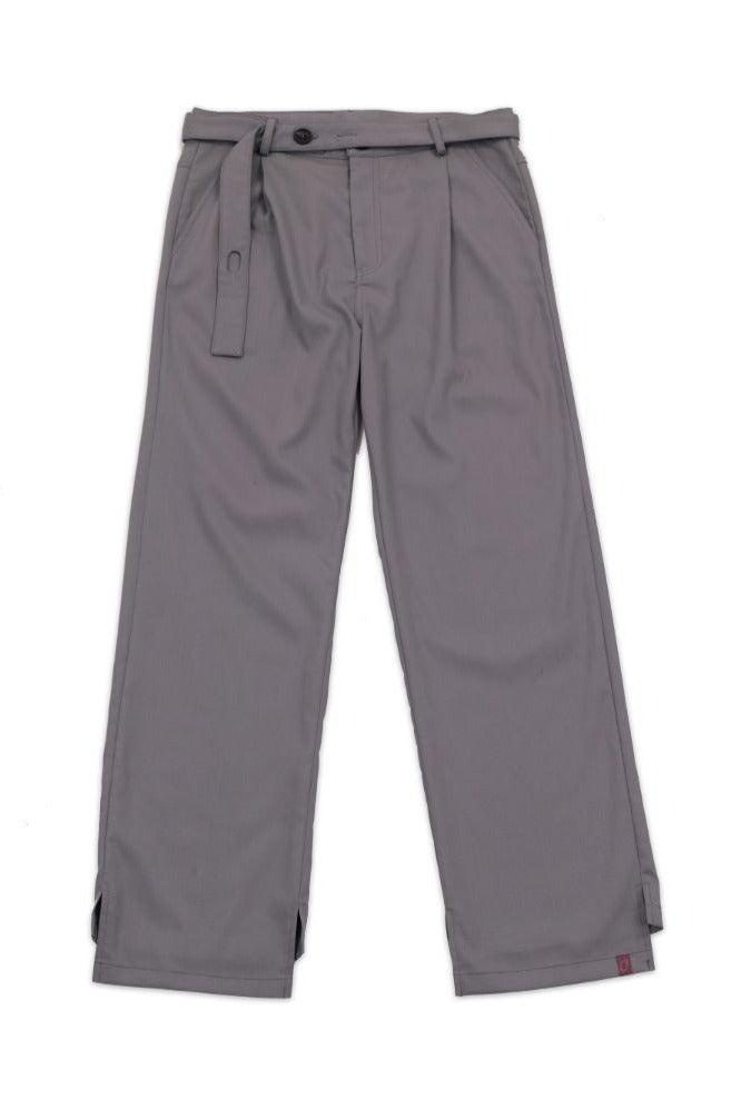 BLIND Gray Asymmetric Straight Trousers