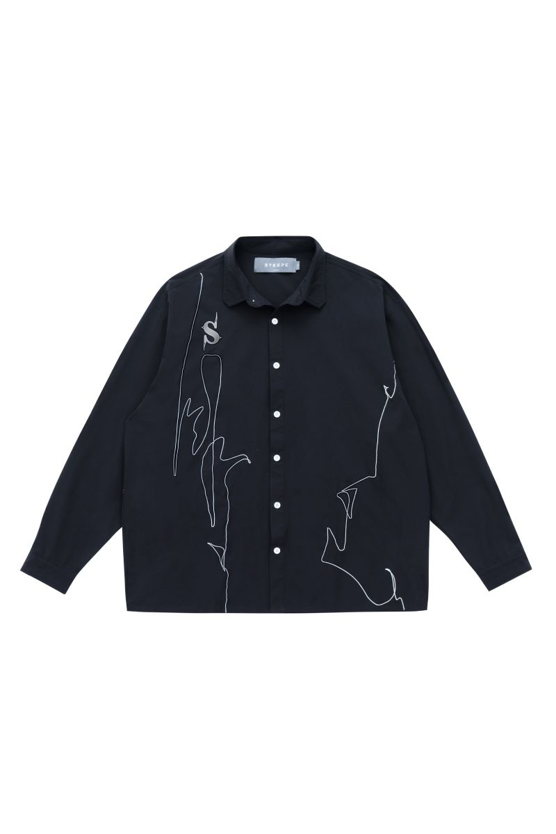 STEEPC Embroidered Lines L/S Shirt