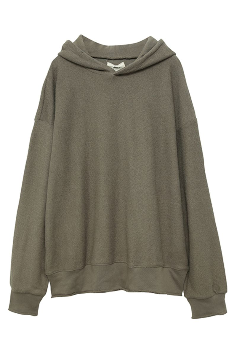 THINGY Army Green Loose Hoodie