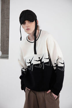 Mix7 Black and White Heavy Sweater