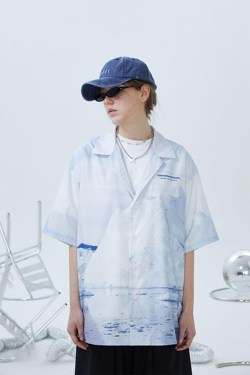 H/C Antarctic Printed Cuban Shirt