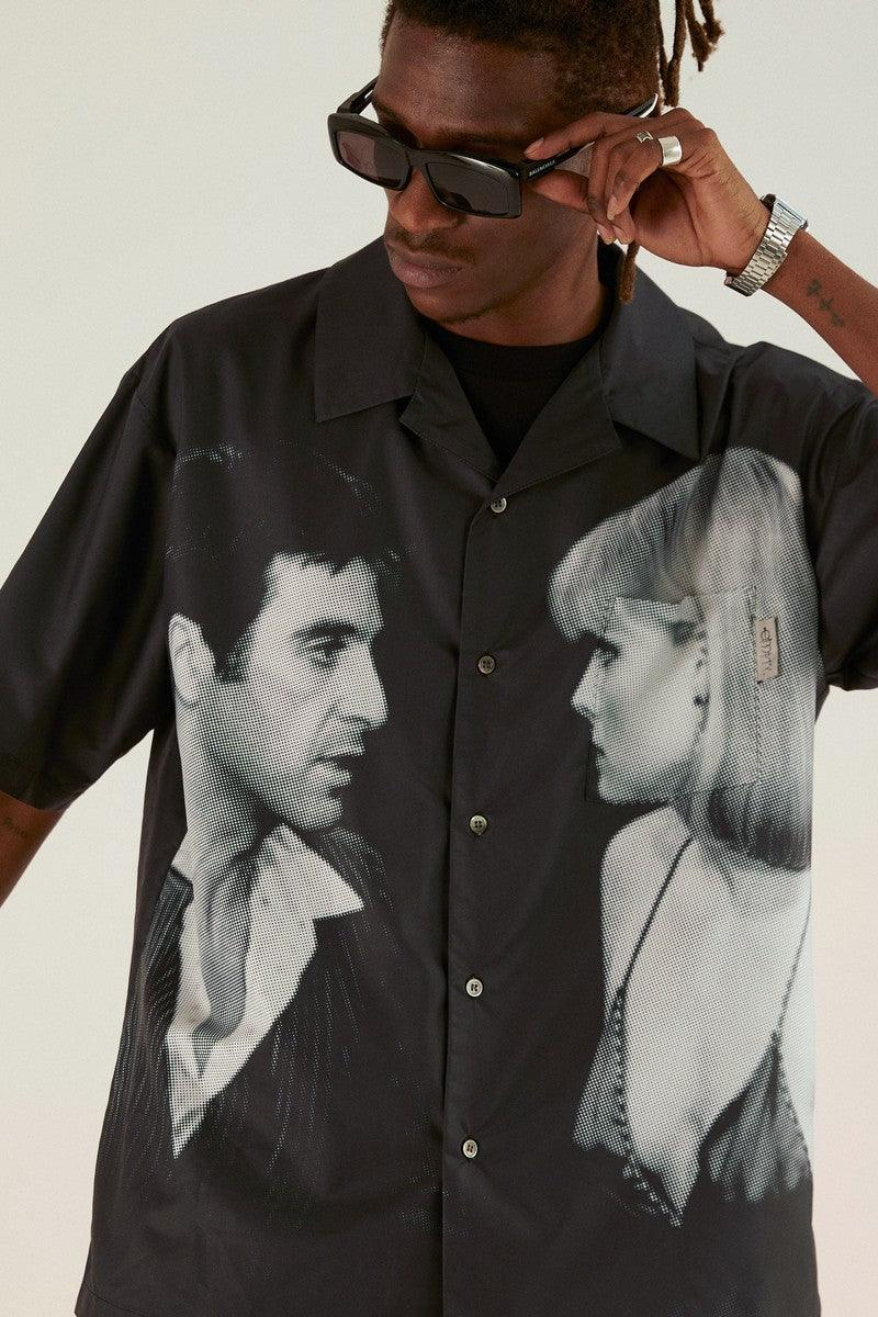 Empty Reference Scarface Print Cuban Shirt