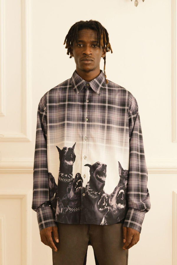 Empty Reference Doberman Plaid L/S Shirt