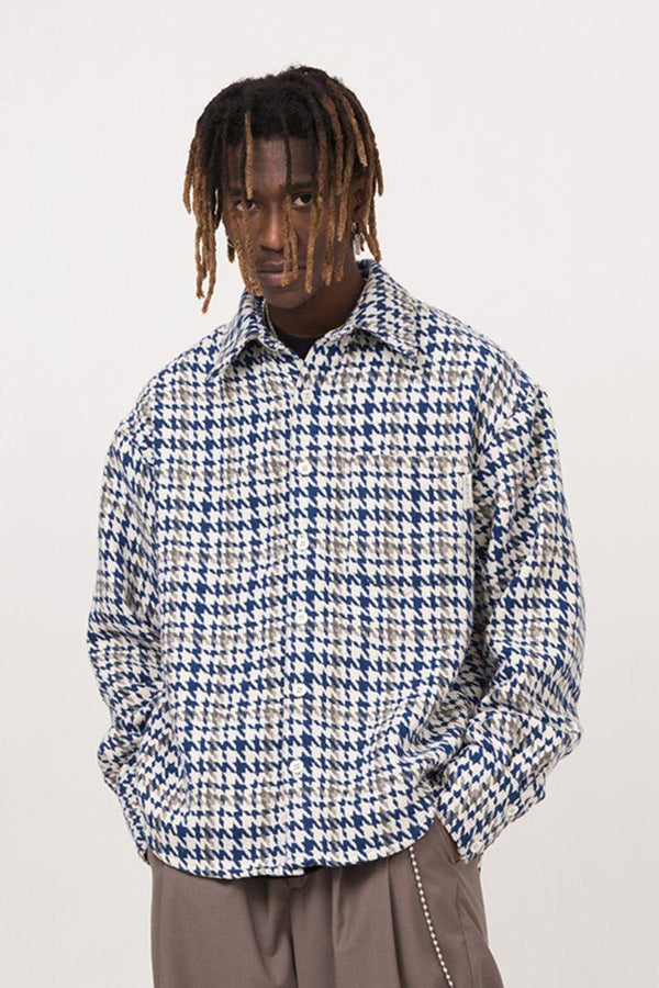 Empty Reference Houndstooth Wool Heavy L/S Shirt