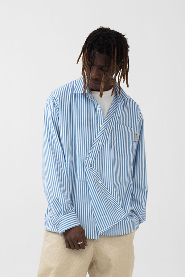 Empty Reference Irregular Striped Shirt