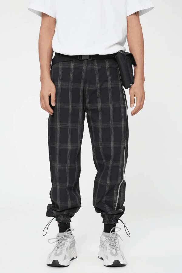 CZ Black Adjustable Checkered Trousers