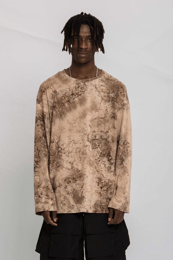 CZ Brown Bleached L/S Tee