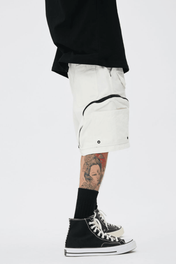 CZ White Full Pockets Cargo Shorts