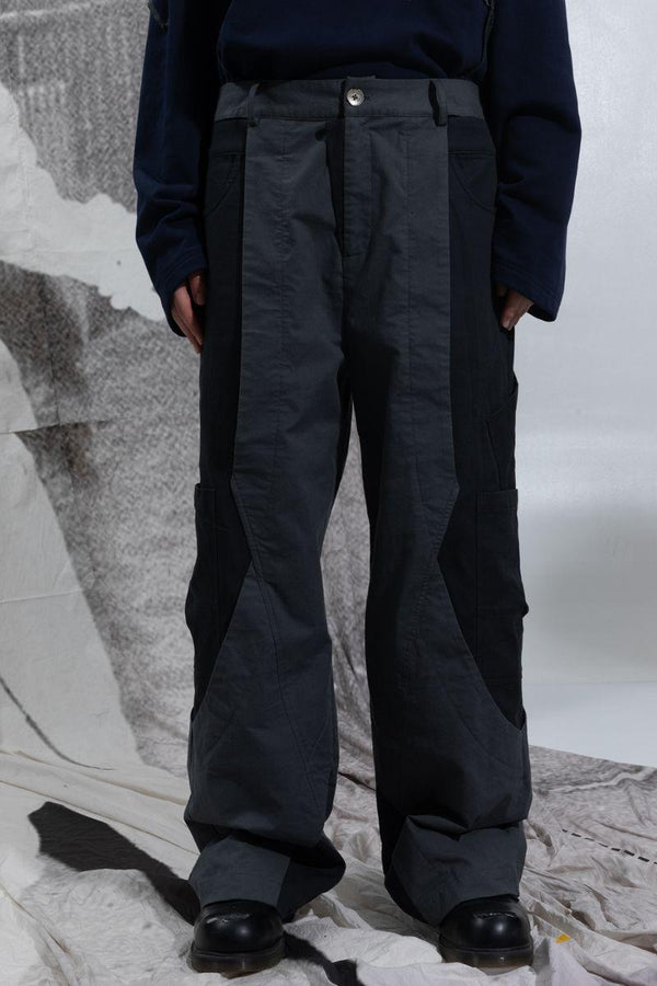 BLIND Multi Pocket Stitched Trousers