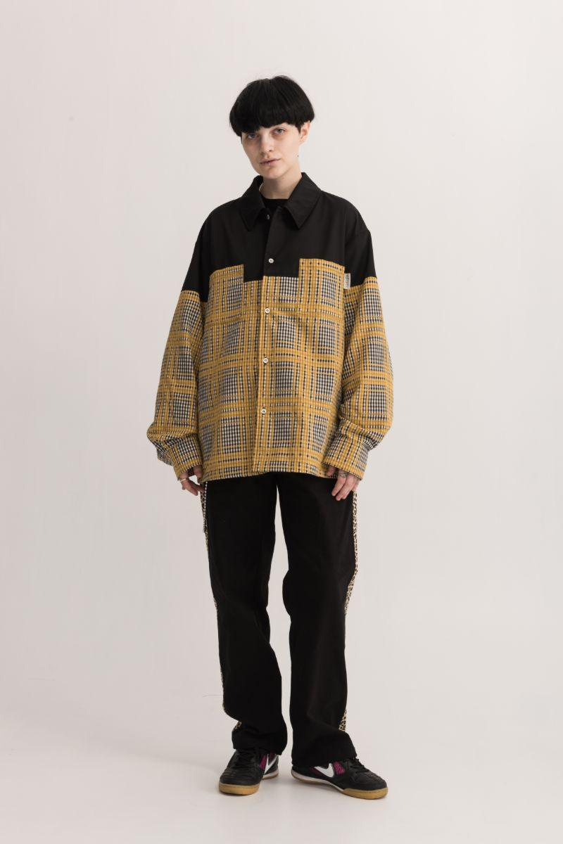 Empty Reference Plaid Stitching L/S Shirt Jacket