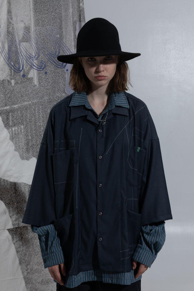 BLIND Irregular Stitched L/S Shirt